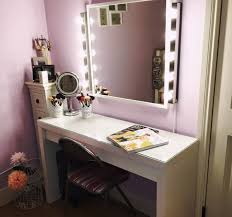 vanity table with lighted mirror and bench furniture bathrooms design makeup vanity table with lighted mirror