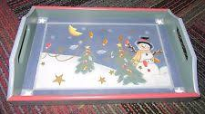 wooden christmas winter table serving trays pieces ebay