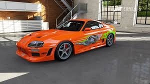 toyota fast car foza 5 toyota supra the fast and the furious car youtube