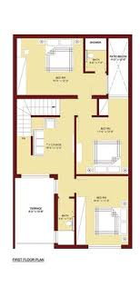 home plan house plan for 25 by 52 plot plot size 144 square yards