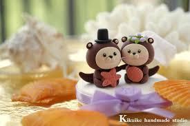 otter cake topper and groom otter theme wedding cake topper k611
