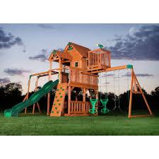 buydepot net xb systems llc skyfort ii cedar swing set play
