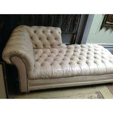 Vintage Tufted Sofa by Chaise Lounge Leather Chaise Lounge With Tufted Buttons Tufted