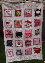 memory clothes a memory quilt featuring baby clothes saved and unified
