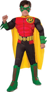 Boys Halloween Costumes Party Boys Robin Muscle Costume Batman Comic Book Party Canada