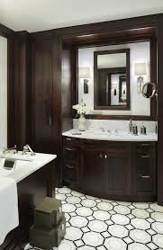 Bathroom With Espresso Cabinets Transitional Bathroom - Floor to ceiling cabinets for bathroom