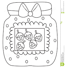 strawberry jam coloring page stock illustration for eson me