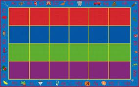 Abc Area Rug Kid Carpet Abc Rainbow Seating Area Rug Reviews Wayfair