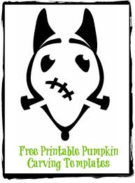 free printable frankenweenie pumpkin carving cutouts not quite