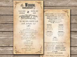 vintage wedding programs stunning rustic wedding program templates ideas styles ideas