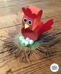 broody bird is brooding shhhh toilet paper roll chicken craft