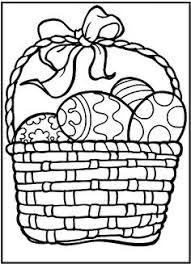 rabbits intend stealing easter eggs coloring picture kids