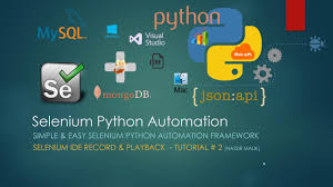 simple and easy selenium python automation framework ide record