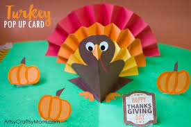 diy thanksgiving turkey pop up card artsy craftsy