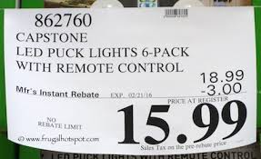 led puck lights costco costco sale capstone led puck lights 6 pack with remote 14 99