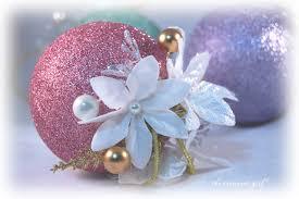 shabby chic ornament pink mint lavender glitter shabby