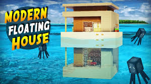 Modern Hous by Minecraft How To Build A Modern House On Water Tutorial 2017