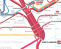 Chicago Elevated Train Map by Game Of Thrones Transit Maps U2014 Michael Tyznik
