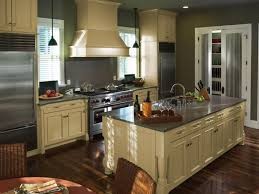 Trending Paint Colors For Kitchens by Painted Kitchen Cabinet Ideas Hgtv