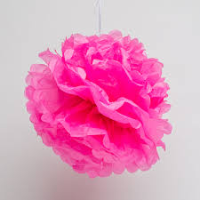 pink tissue paper tissue paper pom poms pink
