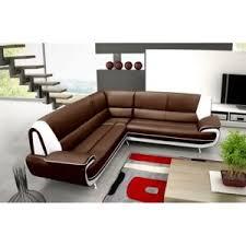 canapé d angle en cuir pas cher design canapé d angle reversible chocolat et