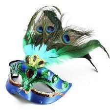peacock mardi gras mask luxury peacock feathers half mask mask fanatic