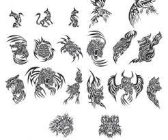 tribal tattoos vector vector graphics