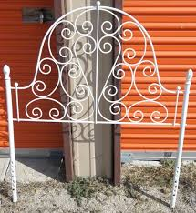 furniture elegant antique white iron headboards