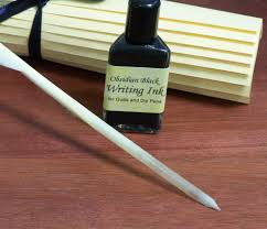 writing parchment paper renaissance writing set with calligraphy parchment paper feather 25 00