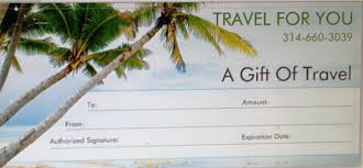 travel gift certificates travel for you gift of travel certificate