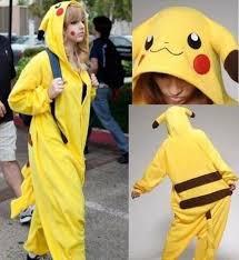 Halloween Costumes Pikachu Pokemon Pikachu Unisex Sleepwear Pajamas Halloween Carnival