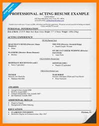 Resume Template Cool Audition Resume Format Jospar