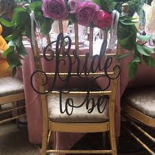 bridal shower chair bridal shower decor bridal shower chair sign to be chair