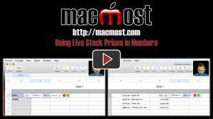 Numbers Spreadsheets Using Live Stock Prices In Numbers U2013 Macmost