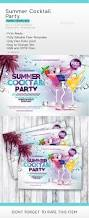 summer cocktail party party events flyer template and cocktails