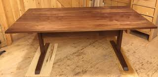 walnut trestle table also makes a great desk or work table