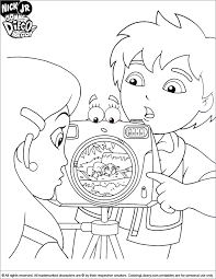 Go Diego Go Coloring Picture Go Diego Go Coloring Pages