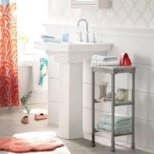 Powder Room With Pedestal Sink Sinks Pedestal Sink Ideas Double Storage Cabinet Mirror Pedestal