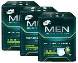 blasenschwäche männer tena level 4 einweg schutzunterwäsche für männer mit