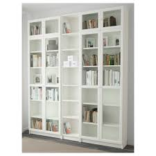 billy glass door billy oxberg bookcase birch veneer 200x237x28 cm ikea