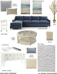 Blue Living Room Ideas Brentwood Ca Residence Great Room Furnishings Concept Board