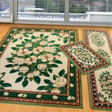 manhattan magnolia cream three piece rug set united weavers area