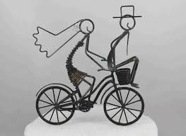 bicycle cake topper daryl s rock and wire works bike weddings and bike rides