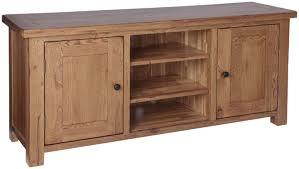 2 Door Tv Cabinet Ridgeway Oak Large 2 Door Tv Cabinet With 4 Adjustable Shelves