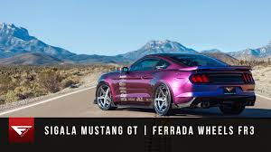 Silver Mustang Black Rims 2015 Mustang Gt Ferrada Wheels Fr3 In Machine Silver Youtube