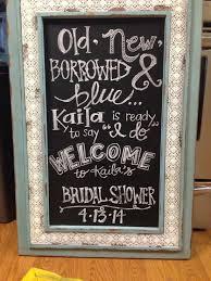 bridal shower decor chalkboard hand lettering bridal shower