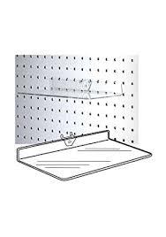 Peg Board Shelves by Amazon Com Shoe Shelves Clear Acrylic Pegboard Shelf Standard 1