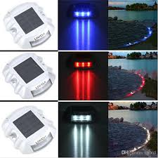 solar led dock lights online cheap solar powered 6led road stud driveway pathway stair
