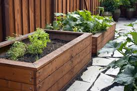 wooden planter boxes also with a fence planters also with a