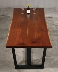 modern walnut dining table wood fusion